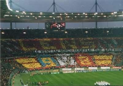 R.C. Lens - P.S.G. 1997/1998 Tifo au stade de France